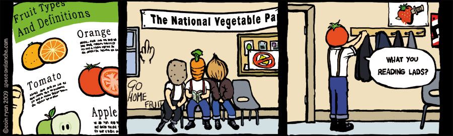 Space Avalanche Comic - National Vegetable Party