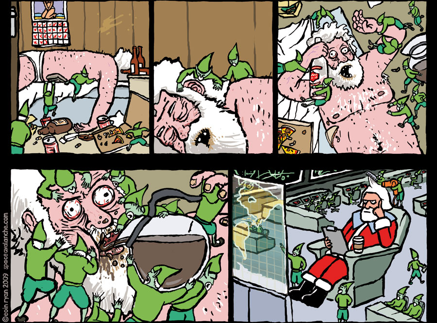 Space Avalanche Comic - Christmas Eve