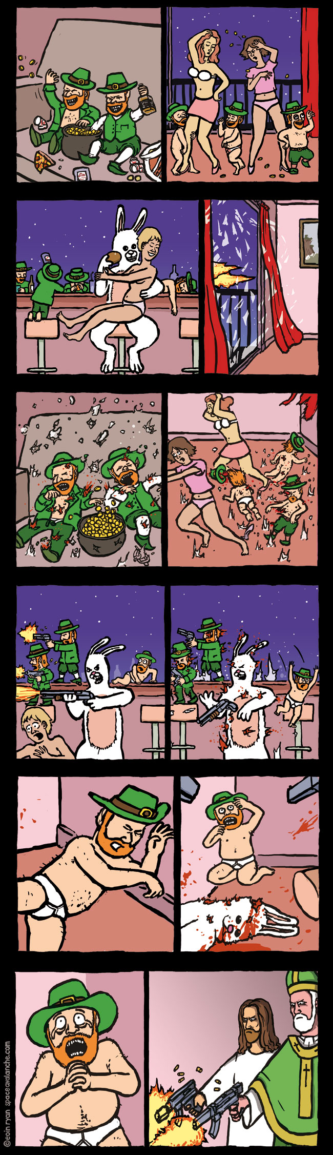 Space Avalanche Comics - Paddy's Day